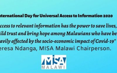 MISA Malawi calls for universal access to Covid-19 information